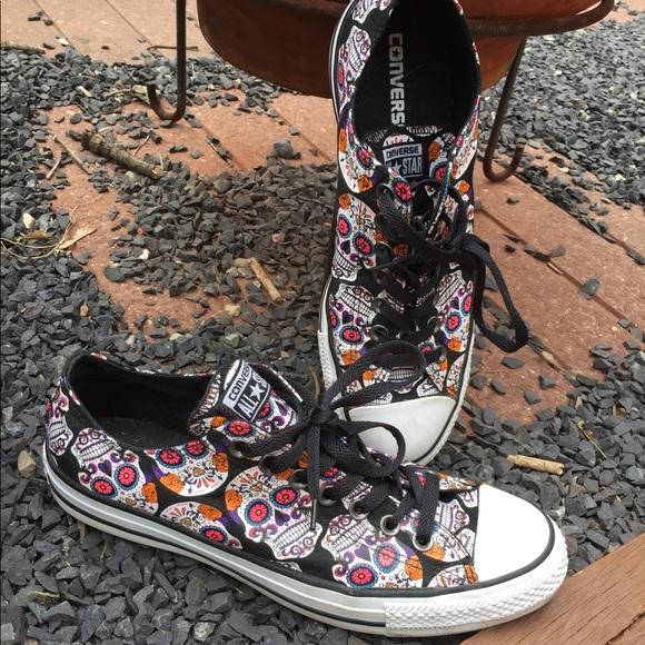 e431429d3b33 Converse Shoes - Converse Sugar Skulls Day Of Dead Sneakers Size 11